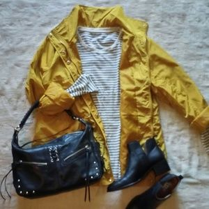Yellow Anorak Windbraker Jacket Sz XL NWT